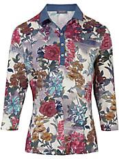 Basler - Polo-Shirt mit kontrastfarbenem Denim