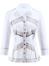 Just White - Bluse mit 3/4-Arm
