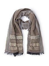 Passigatti - Schal mit applizierten Pailletten