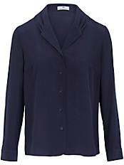 Peter Hahn - Bluse in 100% Seide und dekorativen Fältchen