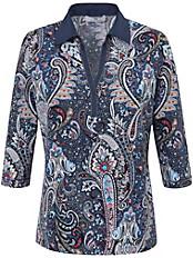 Peter Hahn - Polo-Shirt mit feinen Metallketten verziert