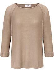 Peter Hahn - Rundhals-Pullover mit 3/4 Arm aus 100% Leinen